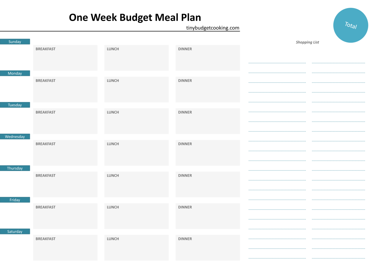 how to make a budget plan example