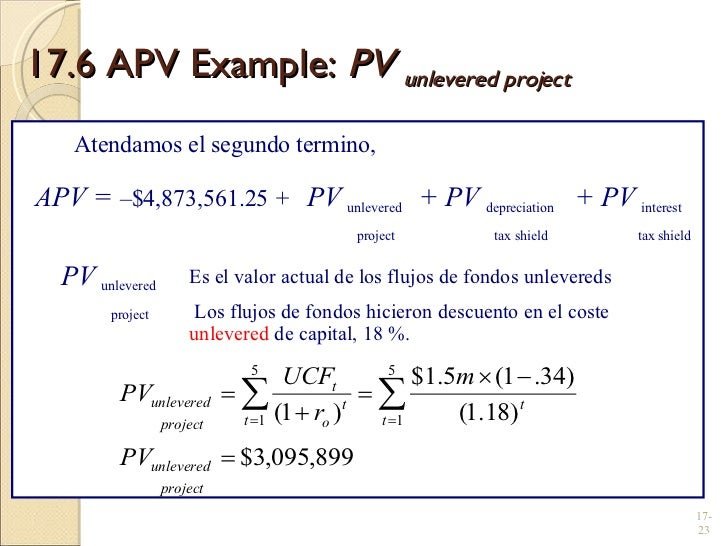 present value of tax shield example