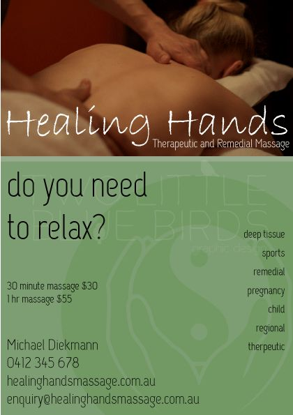 massage therapy newspaper ad example
