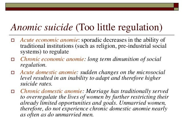 example of anomie in sociology