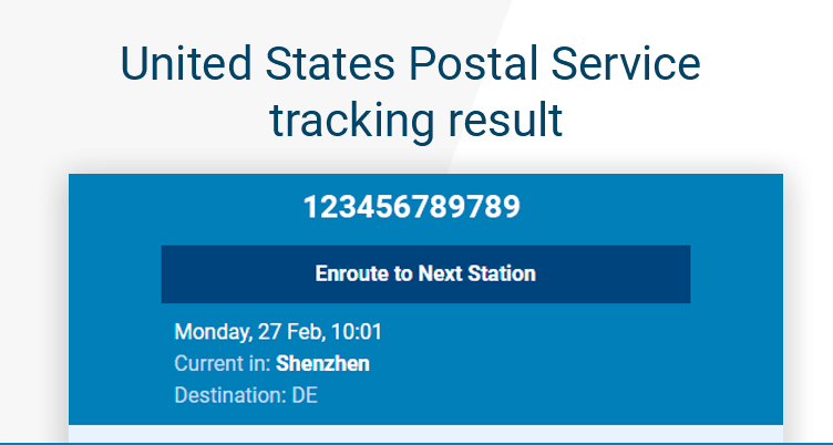 post office tracking number example