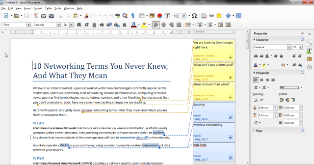 example of a word processing software
