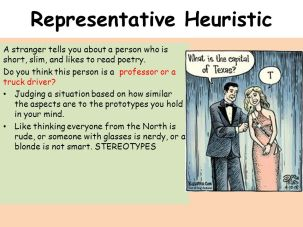 example of representative heuristic in psychology