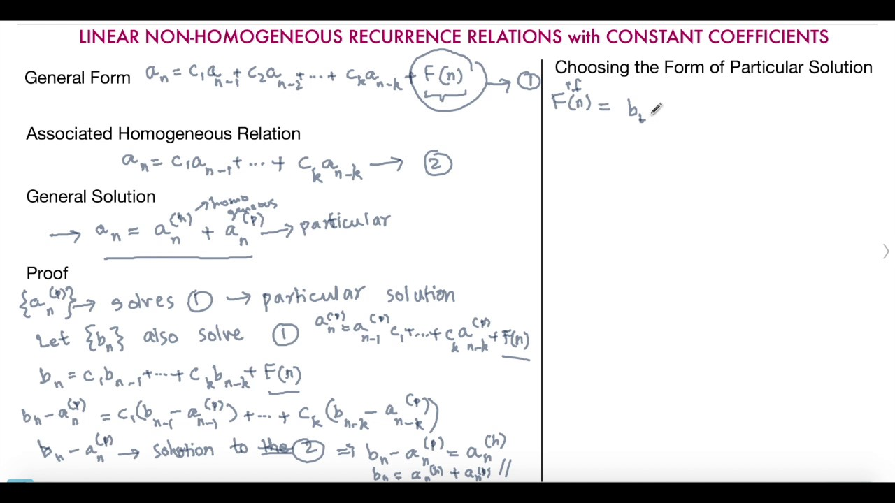 recurrence relation example series solutions