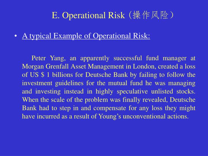 example of operational risk management