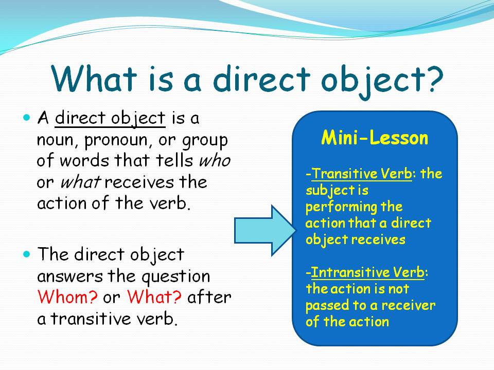 gerund used as indirect object example