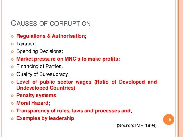 corruption in international business example