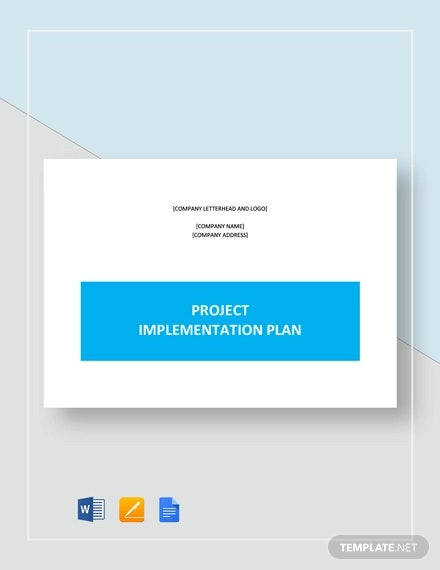it project implementation plan example
