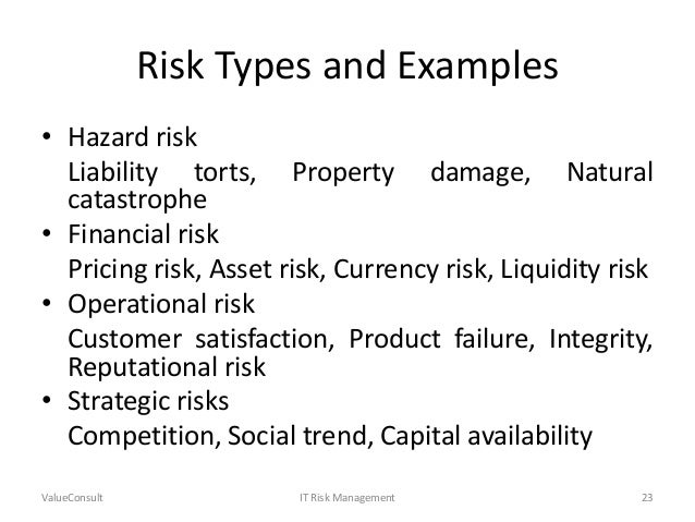information technology risk management plan example