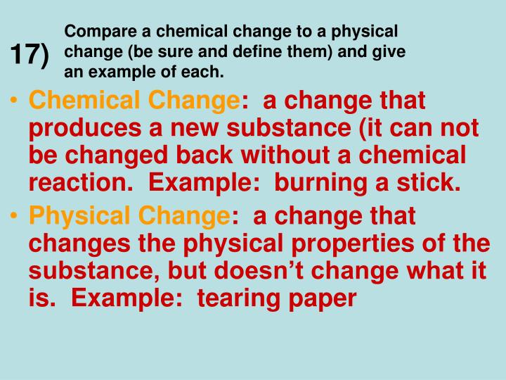 give an example of an element