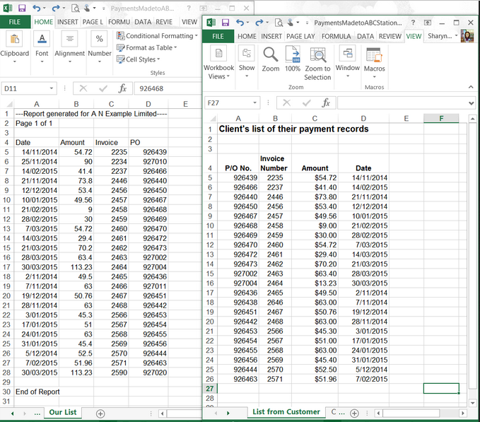 balance sheet excel title example