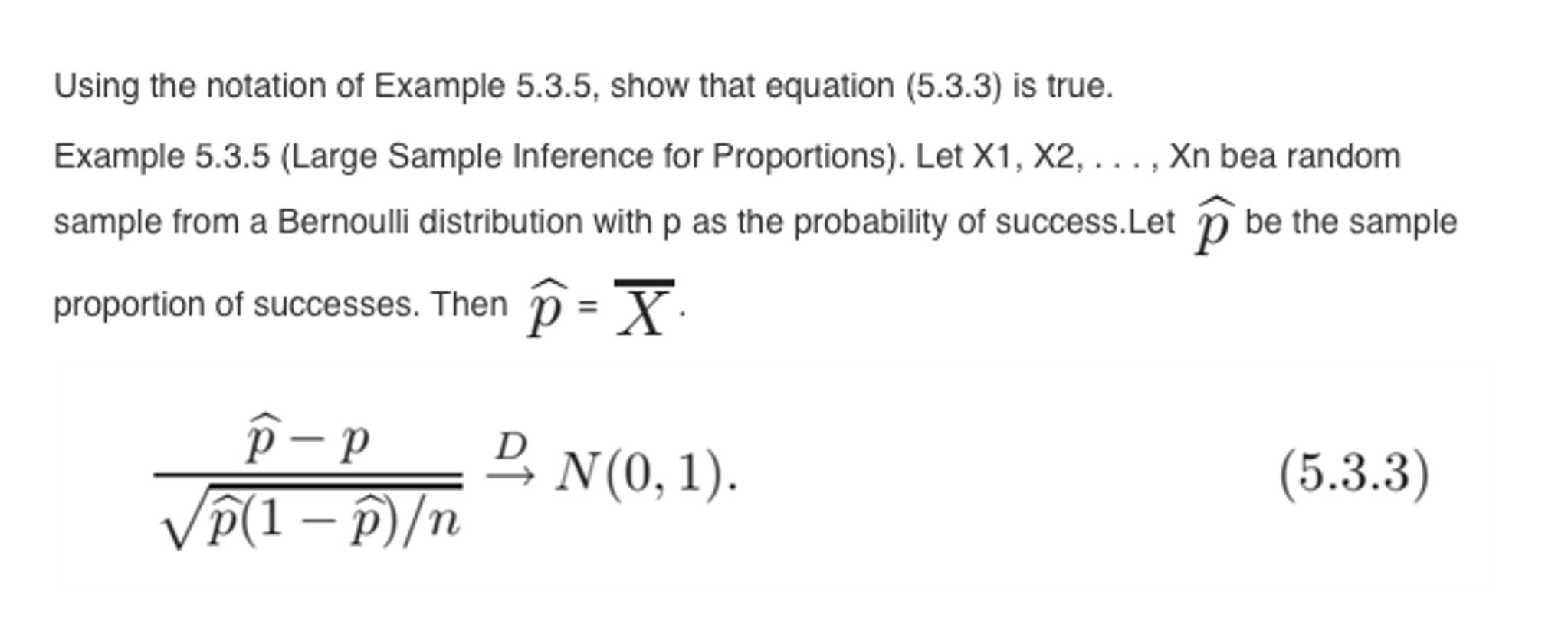 example question on using the sample size equation