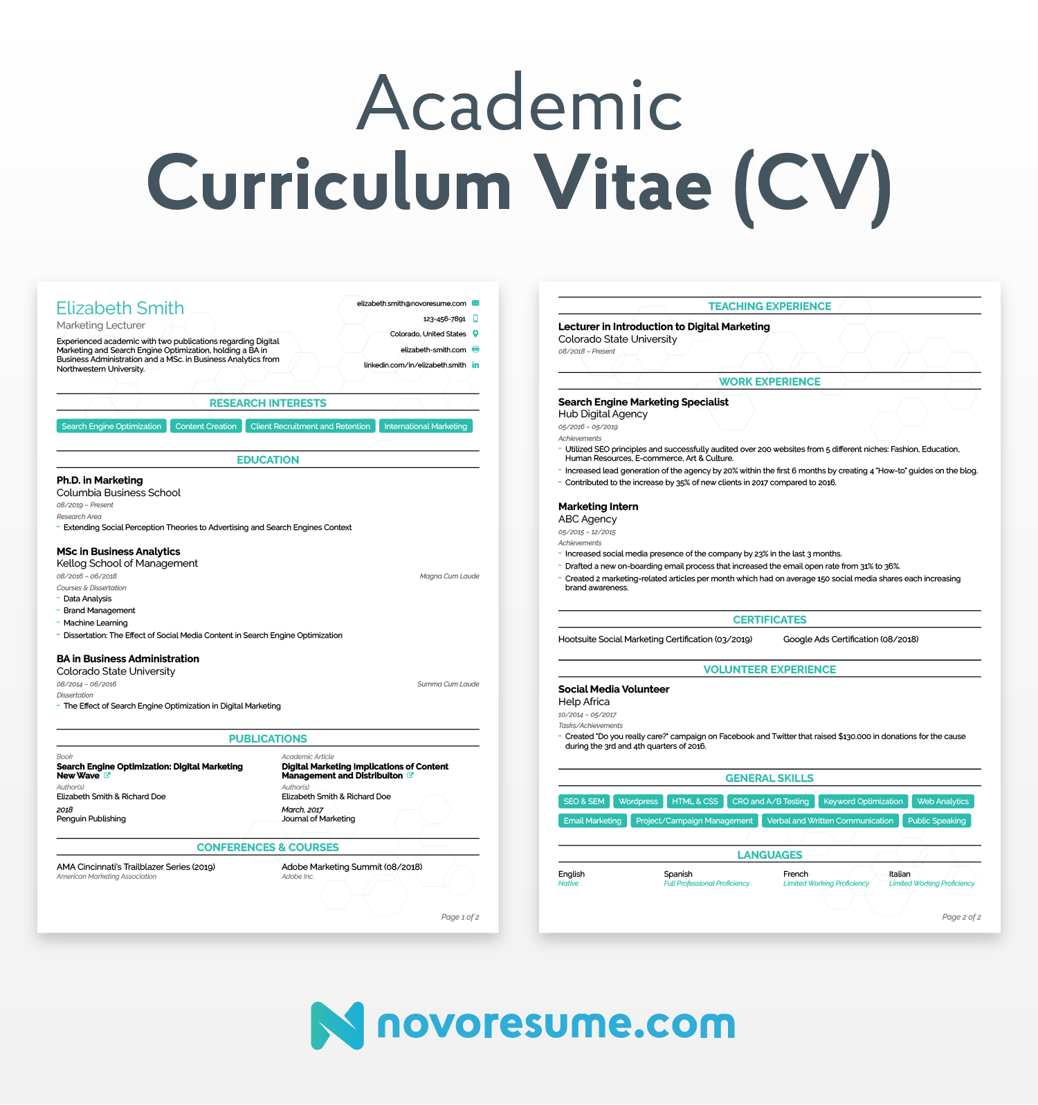 example of cv for applying job