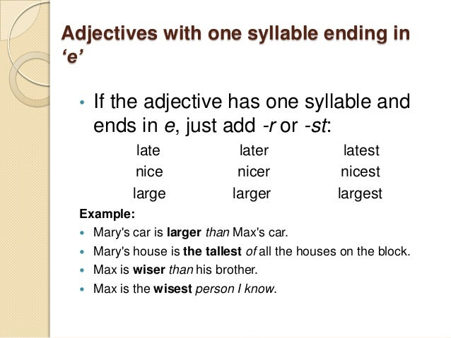 example of a superlative adjective