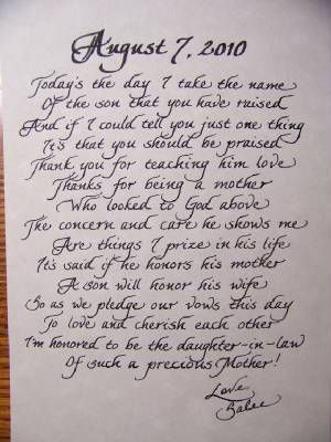 letter to bride on wedding day example