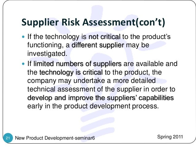 new product risk assessment example