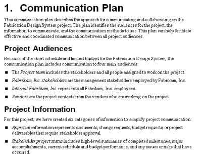 project management team contract example