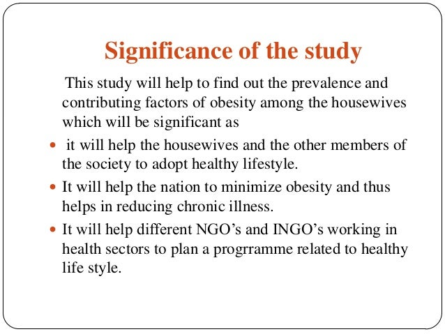 purpose of the study in research example