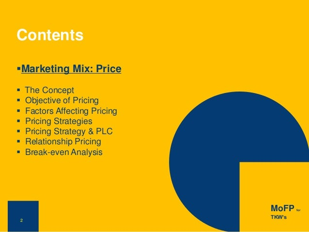 service marketing mix financial product example