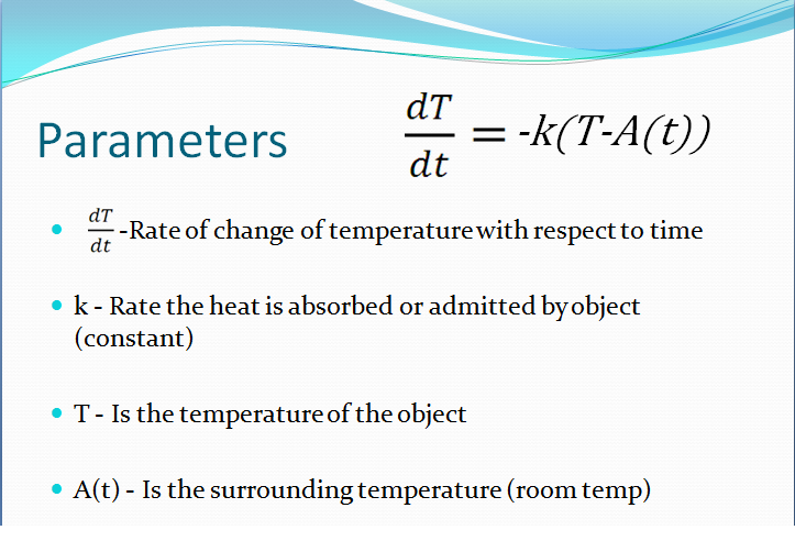 worked example of newtons law of cooling